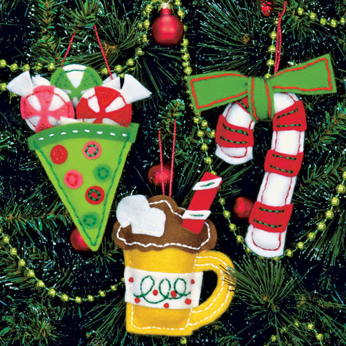 Sweet Treat Ornaments, Felt Applique_72-08185