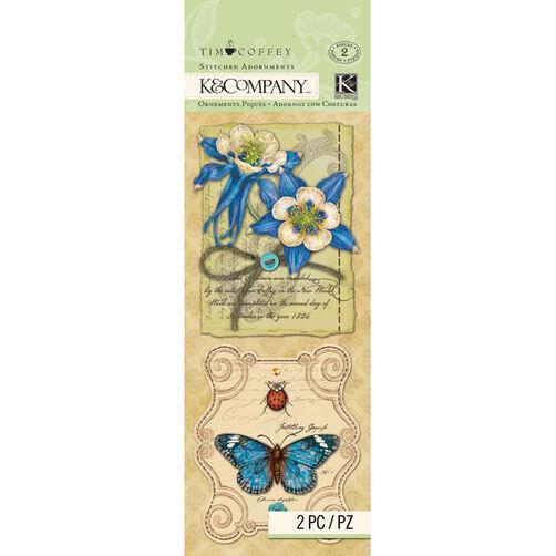 Tim Coffey Foliage- Floral Stitched Adornments_30-672307