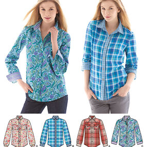 Misses' Button Front Shirt