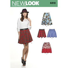 New Look Pattern 6313 Misses' Skirts with Length Variations