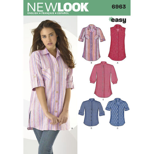 New Look Pattern 6963 Misses' Tops