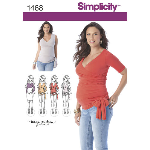 Simplicity Pattern 1468 Misses' Knit Maternity Tops
