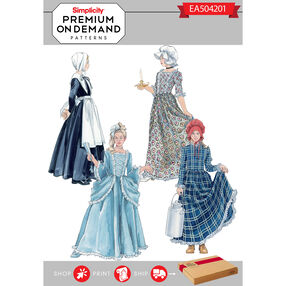 Simplicity Pattern EA504201 Premium Print On Demand Costume Pattern