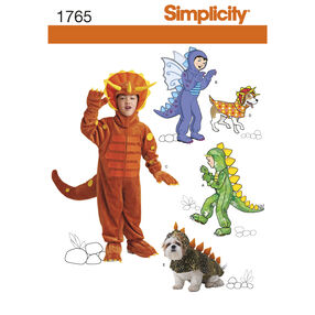 Simplicity Pattern 1765 Child's and Dog Costumes