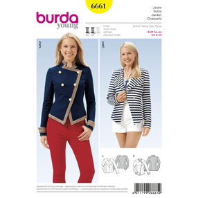 Burda Style Pattern 6661 Misses' Jacket