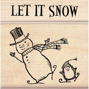 Let It Snow Wood Stamp Set_60-01155