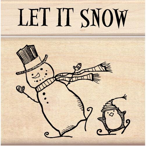 Let It Snow Wood Stamp Set_60-01155