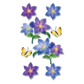 Vellum Purple Flower Stickers_SPJV011