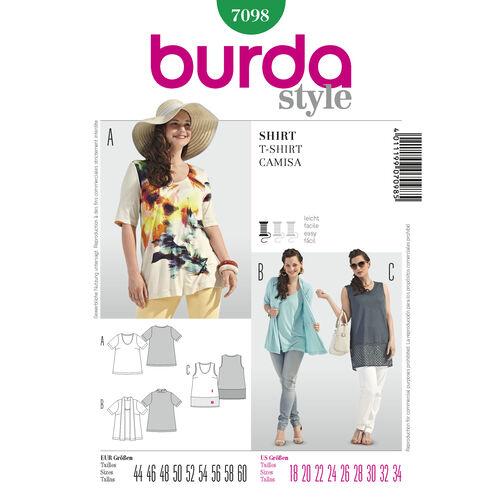 Burda Style Pattern 7098 T-Shirt