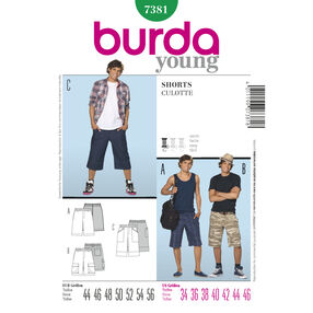 Burda Style Pattern 7381 Shorts