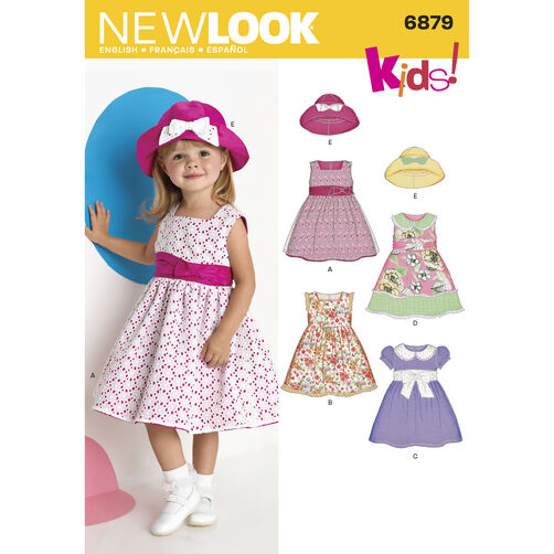 New Look Pattern 6879 Toddler's Dresses