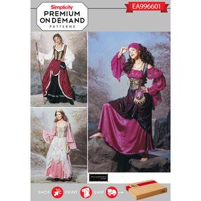 Simplicity Pattern EA996601 Premium Print on Demand Misses' Costumes