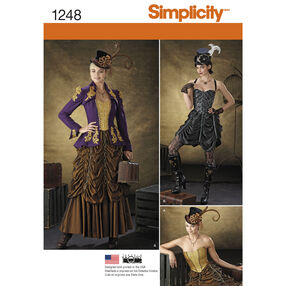 Simplicity Pattern 1248 Misses' Steampunk Costumes