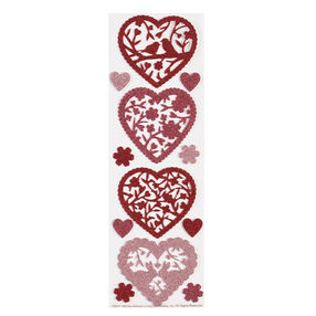 Valentine Glittered Die-Cut Hearts Stickers_48-00011