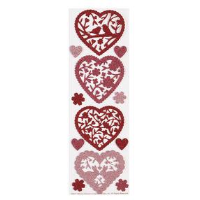 Valentine Glittered Die-Cut Hearts Stickers_48-00011