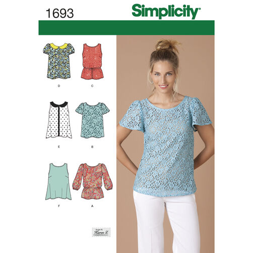Simplicity Pattern 1693 Misses' Tops