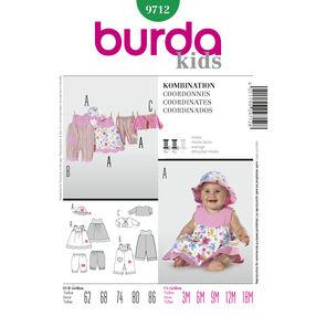 Burda Style Pattern 9712 Coordinates