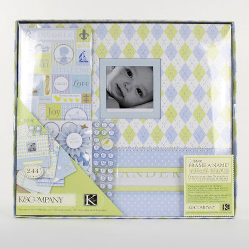 Little house baby boy 12x12 boxed scrapbook kit 30 243460 simplicity