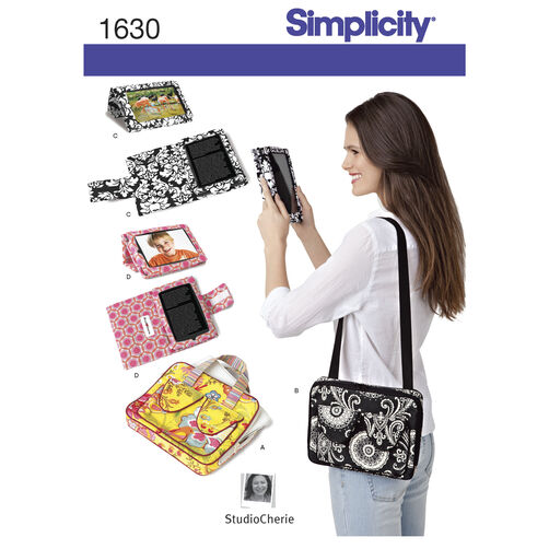 Simplicity Pattern 1630 E-Book Covers & Carry Case for Tablets