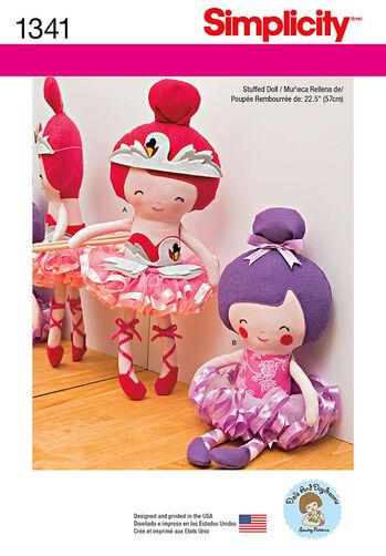"""22-½"""" Stuffed Ballerina Doll"""