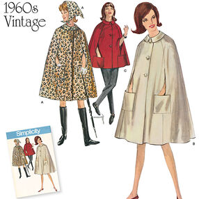 Misses' Vintage 1960's Cape in Two Lengths