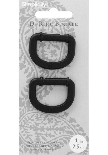 """Plastic D Ring 1"""", 2 pieces"""