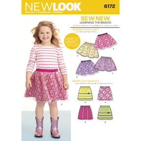 New Look Pattern 6172 Child's Skirts