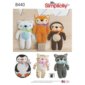 Pattern 8440 Stuffed Animals