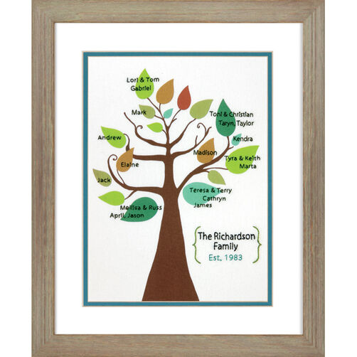 Stylized Family Tree Crewel Embroidery Kit_71-73813
