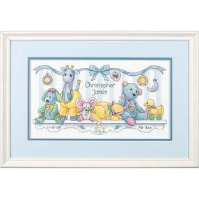 Baby's Friends Birth Record, Counted Cross Stitch_73068