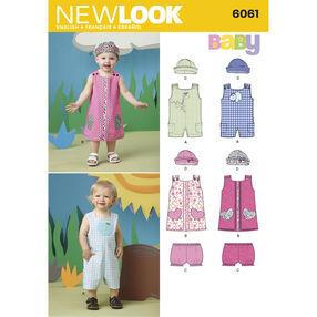 New Look Pattern 6061 Babies Sportswear