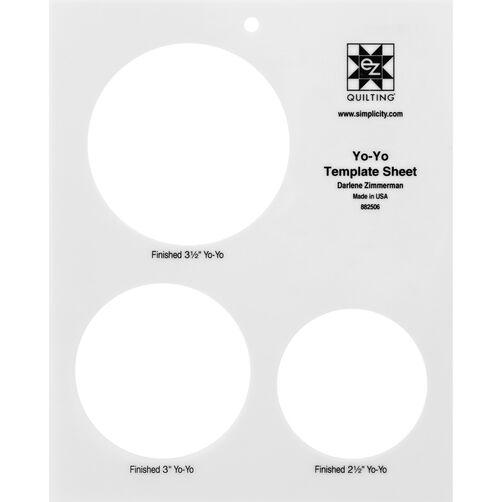 EZ Quilting 882506 Large Yo-Yo Template Sheet