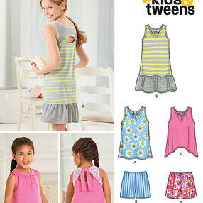 Child's and Girls' Shorts and Knit Dress or Top