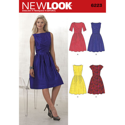 New Look Pattern 6223 Misses' Dress with Bodice Variations