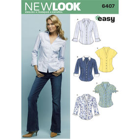 New Look Pattern 6407 Misses Tops