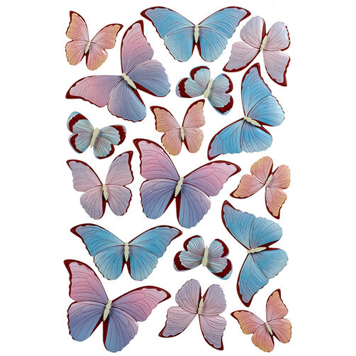 Pearl Garden Butterfly Stickers_41-06013