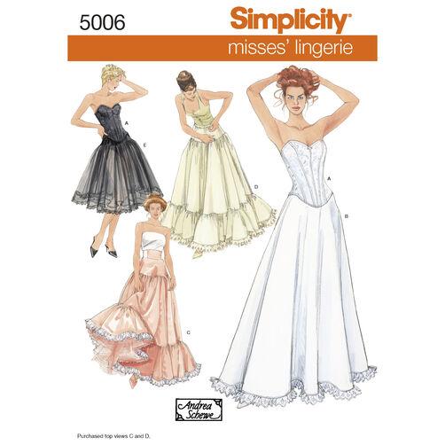Simplicity Pattern 5006 Misses' Lingerie