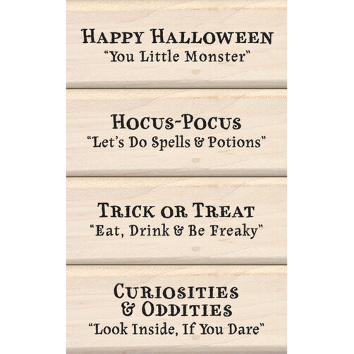 Halloween Expressions Wood Stamp Set_60-10124