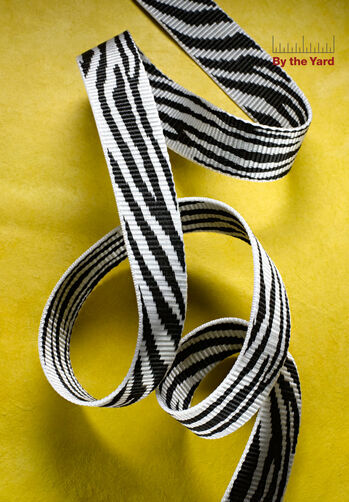 "1-1/4"" Zebra Print Webbing"