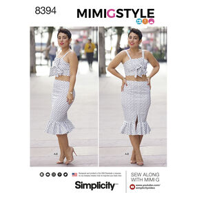 Simplicity Pattern 8394 Misses' Top and Skirt