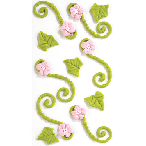 Green Floral Icing Flourish Stickers_50-50460