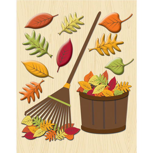 Raking the leaves Sticker Medley_30-585973