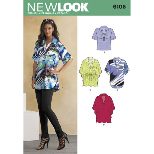 New Look Pattern 6105 Misses' Tops