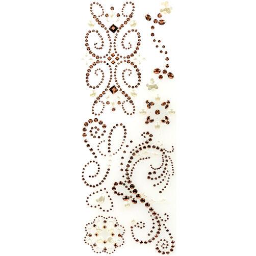Rose Gold Swirl Adhesive Gems_30-676947
