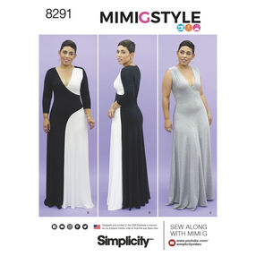 Simplicity Pattern 8291 Mimi G Style Misses'/Women's Knit Dress