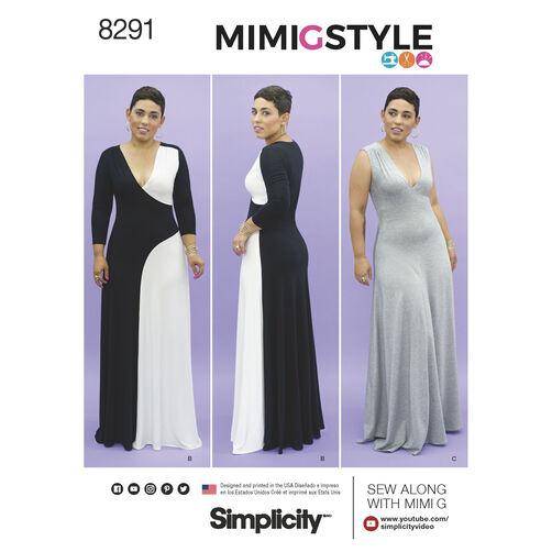 Simplicity Pattern 8291 Mimi G Style Misses'/Women's Knit Dress
