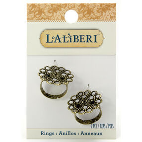 Brass Filigree Round Ring Starters_56-25019