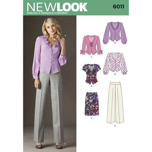 New Look Pattern 6011 Misses' Separates