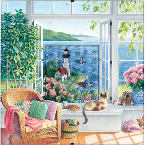 Beach Tranquility, Counted Cross Stitch_73262