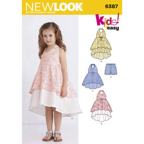 New Look Pattern 6387 Child's Dress, Tunic and Shorts